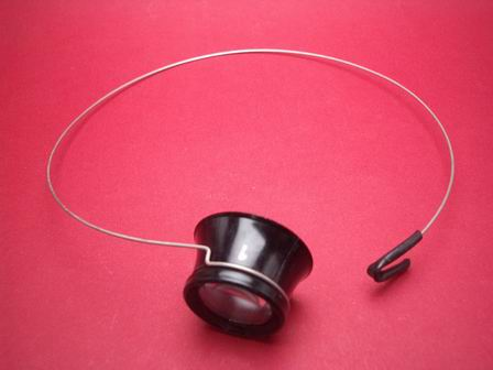 Uhrmacherlupe mit Federstahldraht Stärke 2