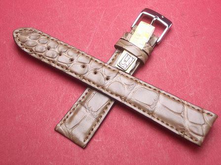 Louisiana Krokodil-Leder-Armband 19mm im Verlauf auf 16mm Farbe: Natur