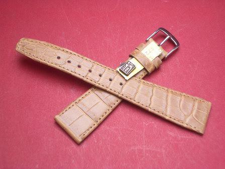 Louisiana Krokodil-Leder-Armband 20mm im Verlauf auf 14mm Farbe: Natur