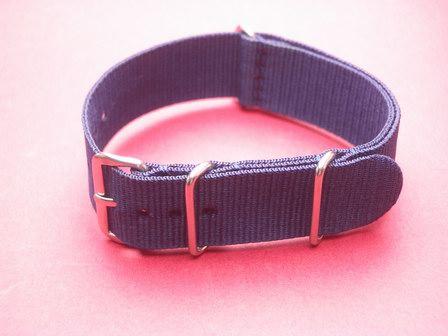 Nato-Armband, Nylonband, Durchzugsband 18mm, Farbe: Blau