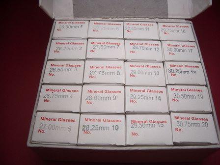 240 Mineralgläser a 20 Verpackungen mit jeweils 12 Stück je Größe