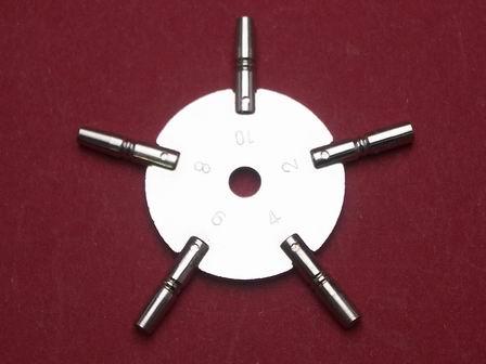 Sternschlüssel für Taschenuhren 3 - 5 - 7 - 9 - 11