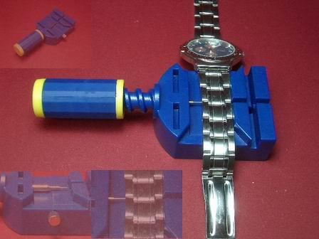 Blaues Werkzeug zum kürzen von Metallarmbänder
