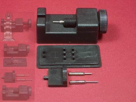 Schwarzes Werkzeug-Set zum kürzen von Metallarmbänder