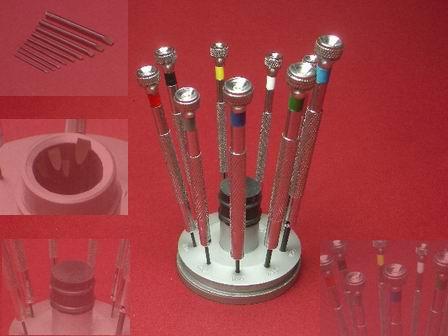 Uhrmacherschraubendreher-Set Werkzeug mit Tischständer