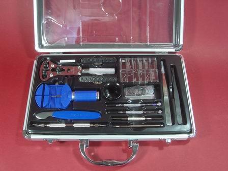 Uhrmacher-Werkzeugkoffer-Set aus Aluminium