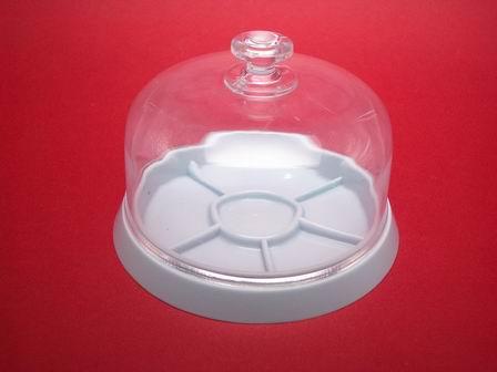 Glocke aus Plexiglas Box mit unterteilter Bodenplatte Werkzeug