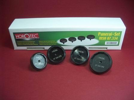 Hochwertigers Gehäuseöffner-Set Werkzeug der schweizer Firma Horotec, auch zum öffnen von Uhren der Marke Panerai
