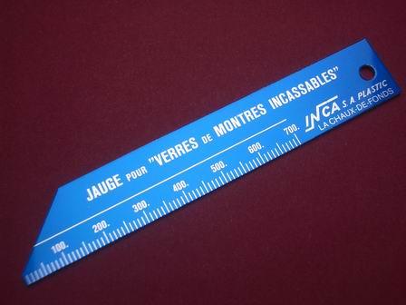 Werkzeug-Lehre zum messen von Uhrgläsern von 0mm bis 70mm