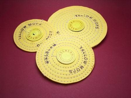 Polierscheiben-Set bestehend aus drei Scheiben unterschiedlicher Durchmesser extra dünn