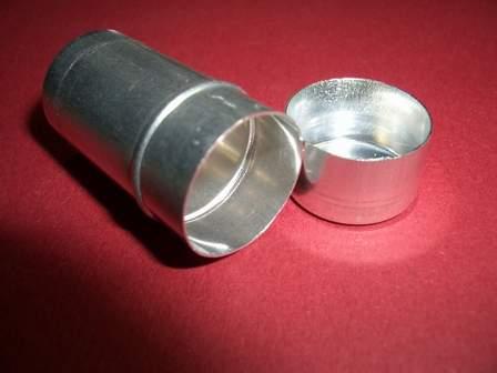 Aluminium Röhrchen mit Deckel 33mm