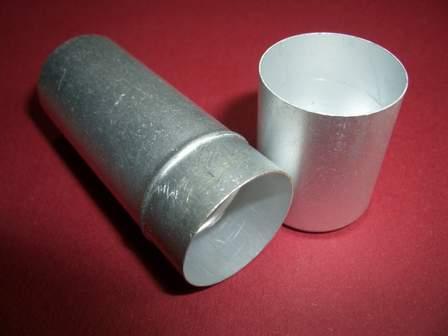 Aluminium Röhrchen mit Deckel 60mm