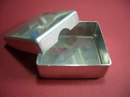 Aluminium Dose Box mit Deckel 42 x 42mm