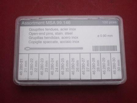 Stift-Splint-Set Werkzeug 100tlg. Ø 0,9mm