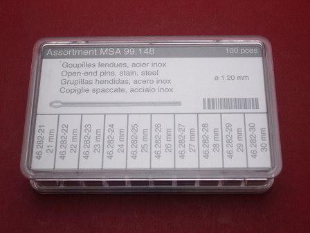 Stift-Splint-Set Werkzeug 100tlg. Ø 1,2mm