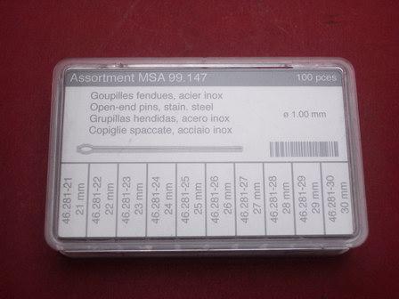 Stift-Splint-Set Werkzeug 100tlg. Ø 1,0mm