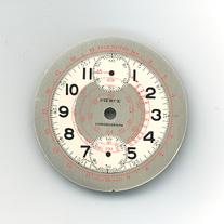 Chronographen-Zifferblatt Pierce Kaliber: 134 Durchmesser: 34,50mm