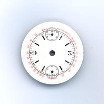 Chronographen-Zifferblatt Pierce Kaliber: 134 Durchmesser: 30,10mm