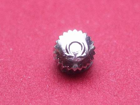 Omega Krone in Stahl, wasserdicht Ø 4,00mm, Höhe 2,87mm, Gewinde 1.0mm
