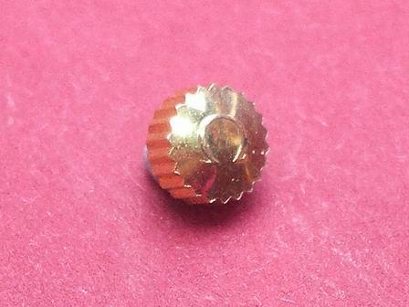 Omega Krone in doublé wasserdicht, Ø 4,50mm, Höhe 2,98mm, Gewinde 0,9mm