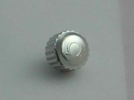 Omega Krone in Stahl, verschraubt, wasserdicht Ø 6,02mm Höhe 4,84mm Gewinde 0,9mm