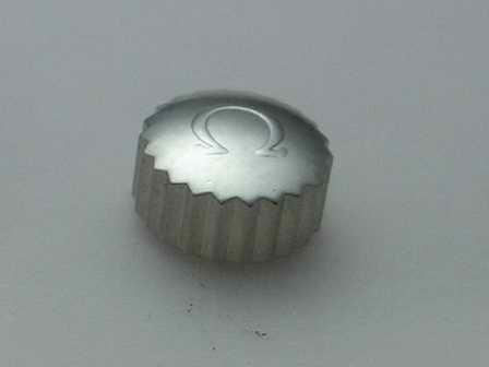 Omega Krone in Stahl, wasserdicht Ø 6,50mm Höhe 3,80mm Gewinde 1,0mm