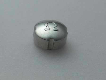 Omega Krone in Stahl, wasserdicht für alte SEAMASTER, Ø 5,30mm Höhe 3,00mm Gewinde 0,9mm, Gehäüsereferenz: 2577, für Hammerautomatik Werk Cal.: 351 oder 352