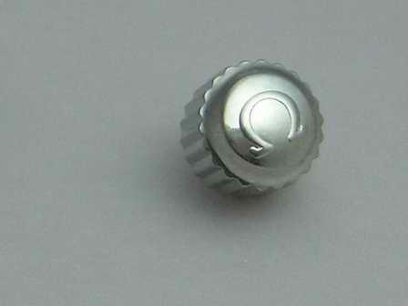 Omega Krone in Stahl, wasserdicht für Ref. 168.1640 & 196.1641, Ø 5,50mm Höhe 4,60mm Gewinde 0,9mm