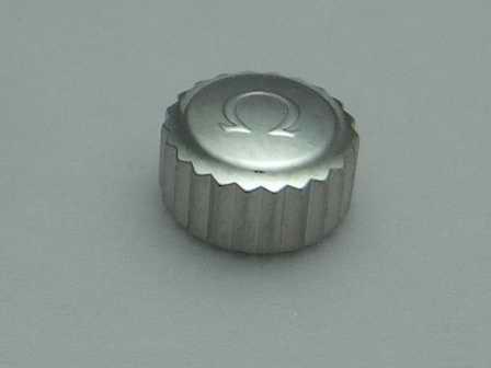 Omega Krone in Stahl, wasserdicht Ø 6,57mm Höhe 3,67mm Gewinde 1,0mm