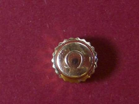 Omega Krone 24 Karat Gold (nicht nur vergoldet.) Ø 6,00mm Höhe 3,75mm Gewinde 0,9mm für Tubus 2,5mm
