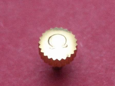 Omega Krone in doublé wasserdicht Ø 4,48mm Höhe 2,13mm Gesamthöhe 6,22mm, Tubus 2,00mm
