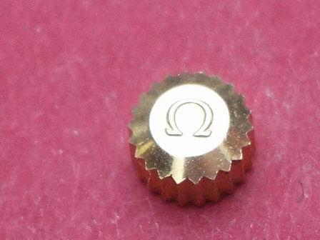 Omega Krone in doublé wasserdicht Ø 5,0mm Höhe 3,0 mm Gewinde 0,9mm