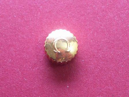 Omega Krone in doublé Ø 6,52mm, Höhe 3,65mm,Gewinde 0,9mm, Tubus 2,5mm