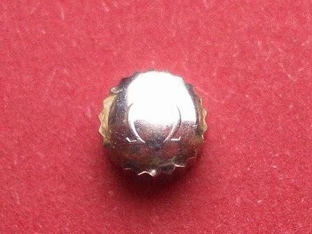 Omega Krone in Stahl, Ø 5,60mm, Höhe 3,85mm, Gewinde 1,2mm, Tubus 2,5mm