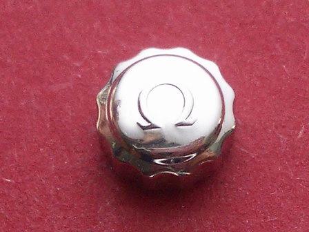 Omega Krone in Stahl, Ø 6,50mm, Höhe 3,5mm, Gewinde 0,9mm, Tubus 2,5mm