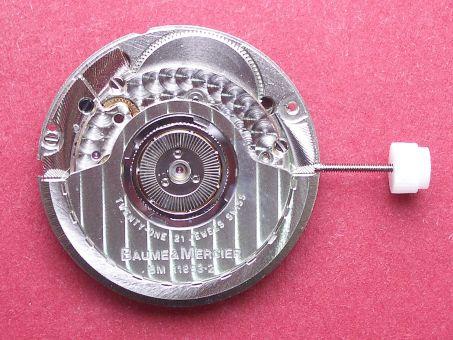 Uhrwerk Baume & Mercier Cal. BM11893-2,  ETA Cal. 2893-2 Datum bei der 3