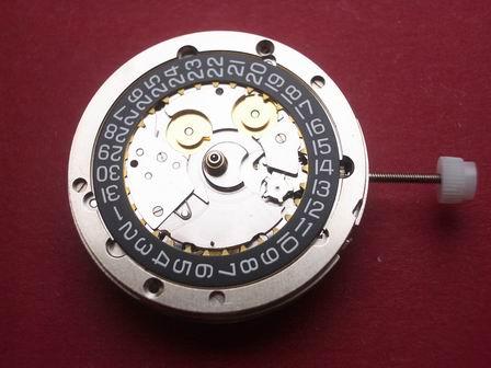 Uhrwerk IWC Cal. C.79320 schwarze Datumscheibe, Datum bei der 3