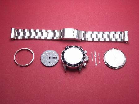 Nettuno Chronograph als Bausatz in schwarz ohne Uhrwerk