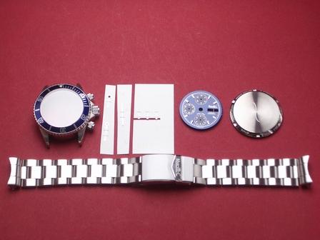 Nettuno Chronograph als Bausatz in blau ohne Uhrwerk