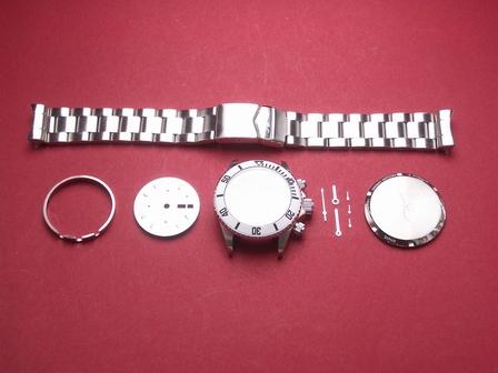 Nettuno Chronograph als Bausatz in weiß ohne Uhrwerk