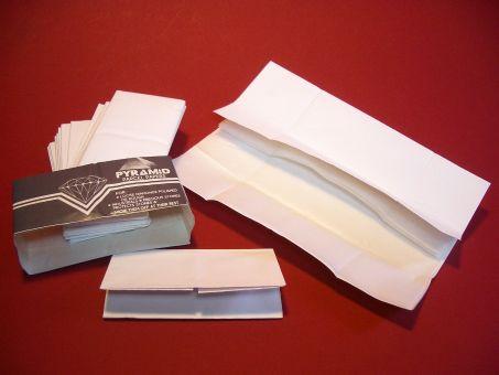 Diamantpapier, Briefchen, Parcel Paper,  25 Stück, 3-lagig, weiß, ca. 21,5cm x 19cm