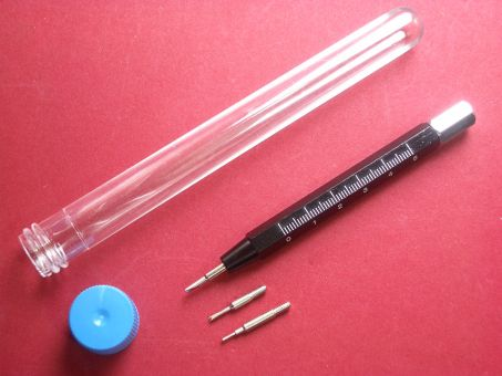 Federsteg Werkzeug-Set mit 3 Spitzen und Meßskala