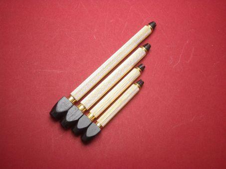 4 Stiftenkloben Werkzeug-Set mit Wechseleinsätze verschiedene Öffnungsweiten der Kloben: 0mm-1,5mm, 0mm-2mm, 0mm-3mm, 0mm-3,5mm