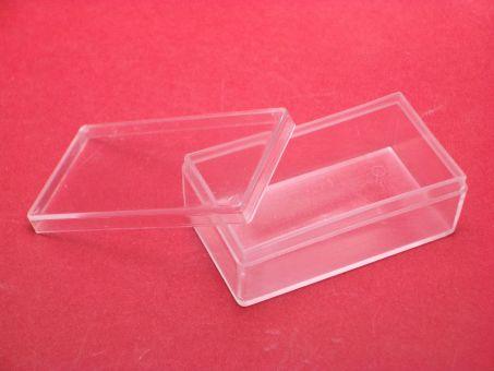1 Kunstoffdose Box mit Deckel ca. 53mm x 30mm x19mm, beachten sie unsere Staffelpreise