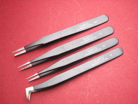 Pinzetten-Set (Kornzangen) Werkzeug 4 Stk. No. OO, 2A, 3C, 6, schwarz nicht magnetisch