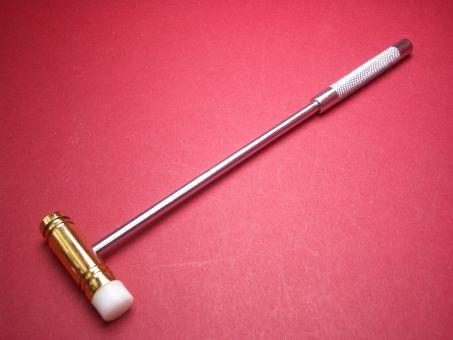 Uhrmacherhammer Werkzeug mit Kunststoff- und Messingkopf