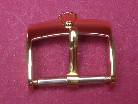 Rolex Leder-Armband-Dorn-Schließe 16mm in gelb ( double )