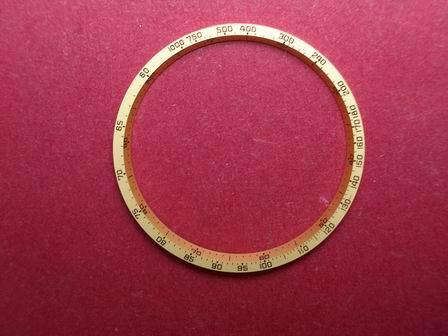Breitling Tachymeterring gelb Durchmesser 29mm