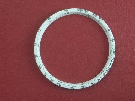 Breitling Tachymeterring weiß Durchmesser 29mm