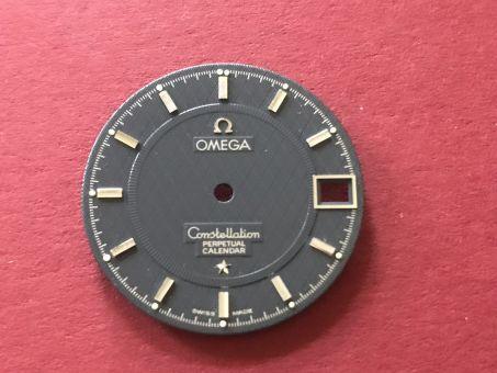 Omega Constellation Perpetual Calendar Zifferblatt mit chromfarbenen Indikationen, Durchmesser: 26mm